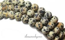 Dalmatier Jaspis kralen rond mat ca. 8mm