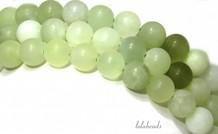 Jade kralen mat rond ca. 10mm