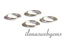 10 Stück Sterling Silber Auge geschlossen über 5x0.6mm