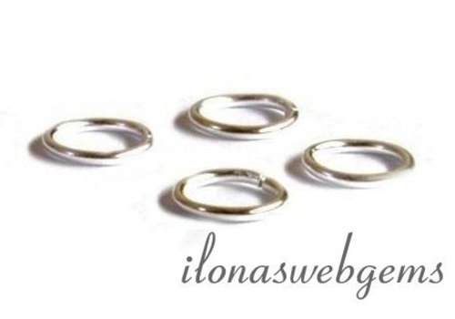 10 pcs sterling silver eye closed approx. 5x0.6mm
