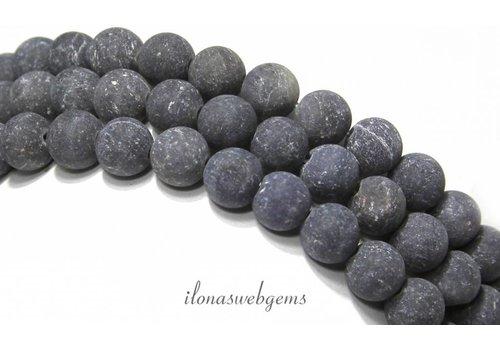 Blauwe Aventurijn kralen mat rond ca. 8mm