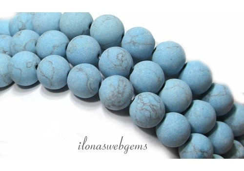 Turquoise beads mat around 10mm