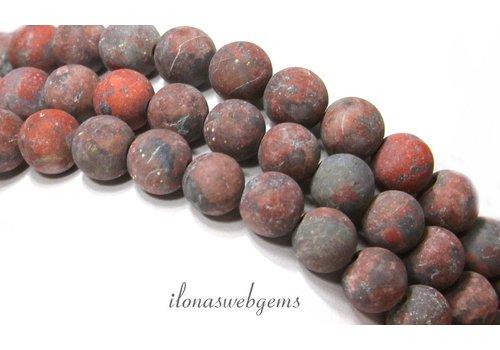 Jasips Perlen rund um 8mm gefrostet