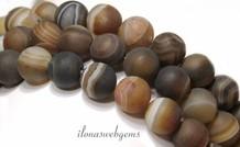 Streifen-Achat Perlen rund ca. 10mm mattiert