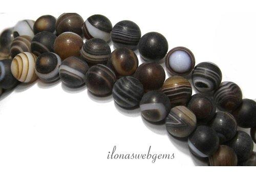 Stripe Achat Perlen Matte um etwa 8 mm