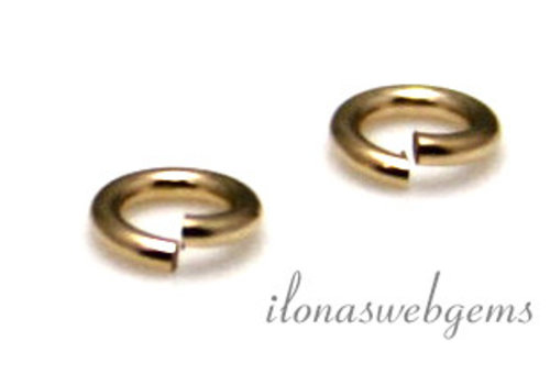 14k/20 Gold filled lock-in oogje ca. 3x0.5mm