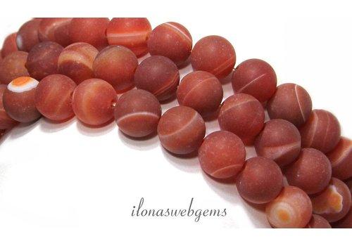 Red Stripe Achat Perlen bereift rund ca. 10mm