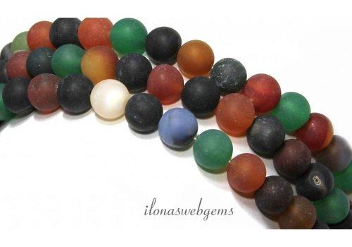 Agate beads mix mat around 8mm