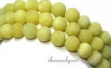 Lemon Jade kralen mat rond ca. 8mm