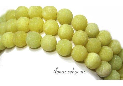 Lemon Jade Perlen Matte rund ca. 10mm