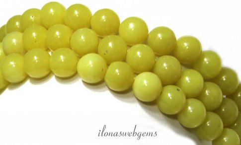 Lemon Jade kralen rond ca. 10mm