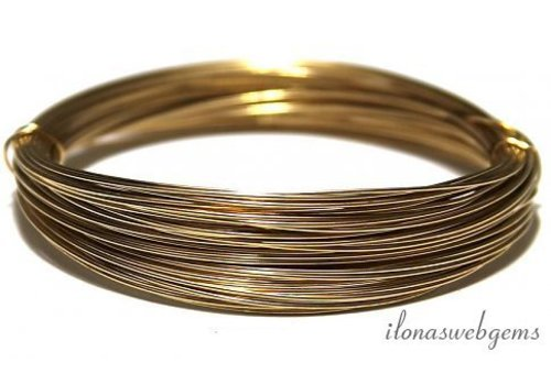 1cm 14k / 20 Gold filled thread standard. About 0.6mm / 22GA