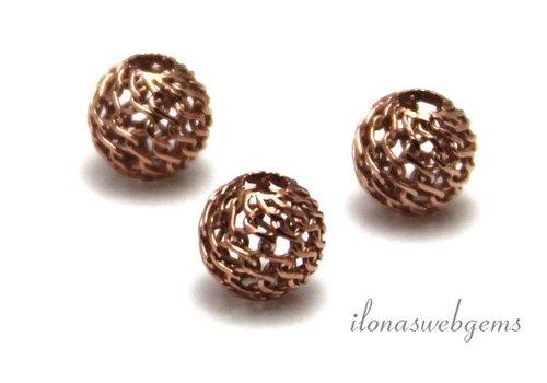 Rosé vermeil bead approx. 6mm