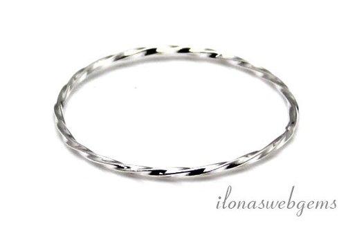 Sterling zilveren gesloten oog/ring ca. 23x1mm