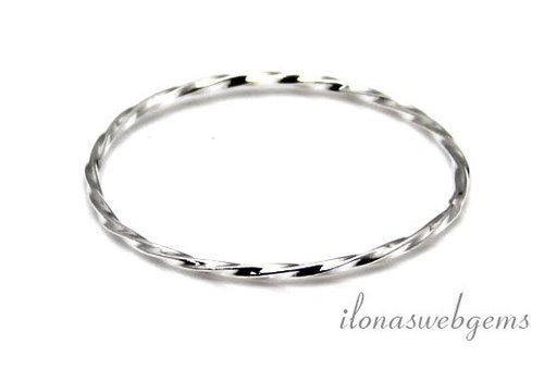 Sterling silver closed eye / ring approx 29x1mm