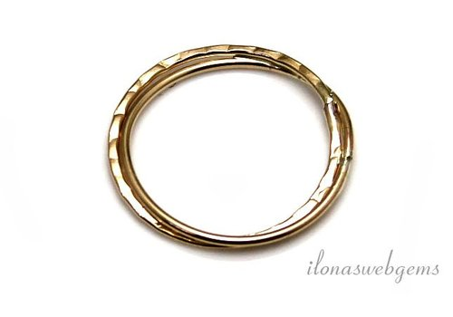 14k / 20 Gold, das gefüllt geschlossene Auge / Ring 22x1.5mm ca.