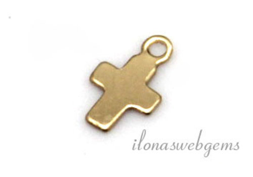 14k / 20 Gold filled bell cross about 7x4.5mm