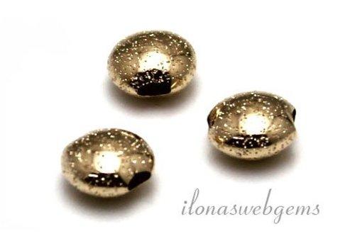 14 Karaat gouden kraal ca. 7x4mm