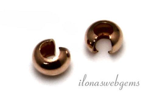1 Stück 14k / 20 Rose Gold gefüllt knijpkraalverberger ca. 4mm