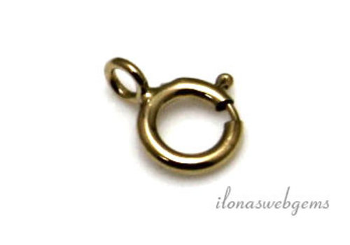 1 piece 14k / 20 Gold filled spring ring approx. 5mm