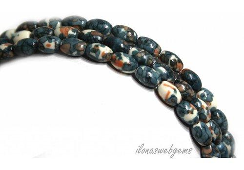 Jasper beads about 7x5mm