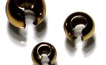 6 stuks Vermeil knijpkraalverberger ca. 5mm