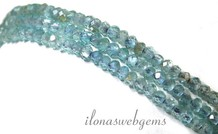 Apatit facettiert Rondelle Perlen über 3x2mm AA Qualität