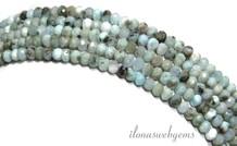 Larimar Perlen über 3x2mm facettierten Rondelle