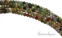 Indian Achat Perlen Mini runden facettierten etwa 2,3 mm
