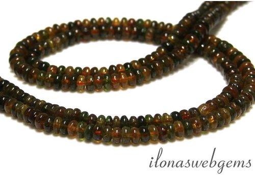 Hessonite und Grossular Perlen (Garnet) Rondellen ca. 5x3mm