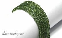 1cm Grün Apatit Perlen facettierten Rondelle über 4x2.5mm