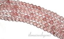 Erdbeere-Quarz-Korn-mini rings um 2.2mm facettierten