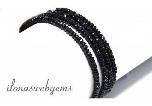 Saphir Perlen Facette Rondelle über 2-4x1.5-3mm