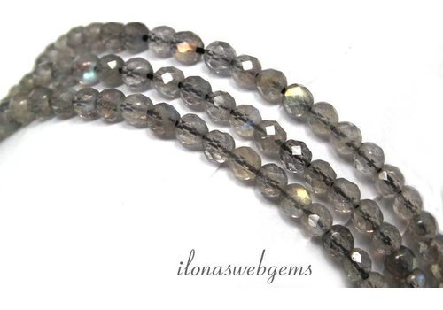 Labradorite beads facet around approx. 4mm AAA quality