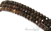 1cm Rhodochrosite Perlen Facette Rondelle etwa 3.5x2.5mm AA Qualität