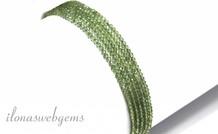 Grüne Apatit Perlen facettiert mini rings um eine Qualität 2mm