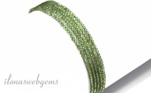 1cm Grün Apatit Perlen Mini rund facettiert über eine Qualität 2mm