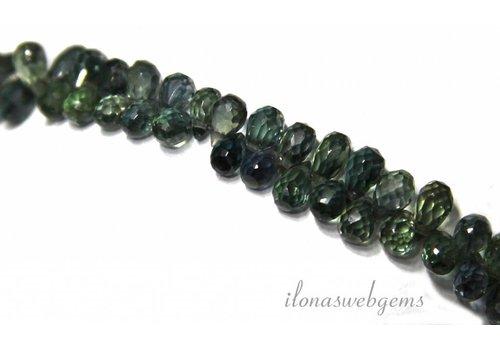 1cm Sapphire Beads facettierte Minibrioletten-Klasse AAA