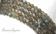 1cm Labradorieten Perlen Facette 5mm um eine Qualität