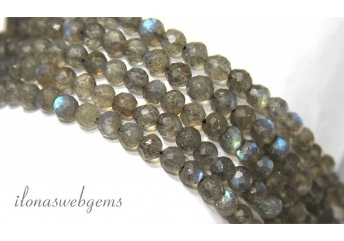 1cm Labradorite beads facet around approx. 5mm A quality