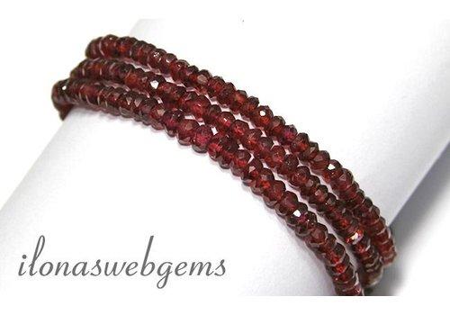Granat Perlen über 4.3x2mm AA-Qualität