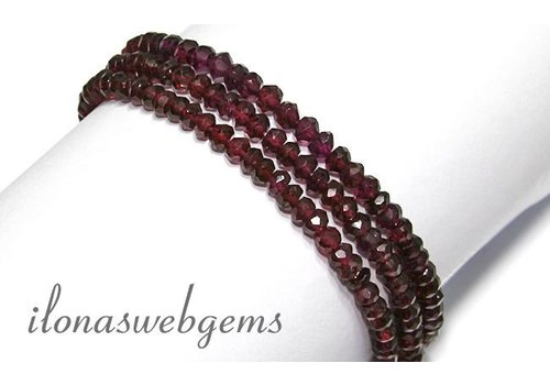 Garnet beads approx 4.7x3mm AA quality
