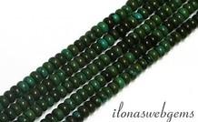 1cm Türkis Perlen Rondelle über 4.5x3mm