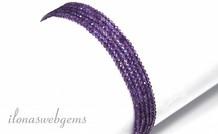 1cm Amethyst Perlen Mini Facette um etwa 2 mm A Qualität