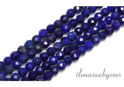 1 cm Lapis lazuli kralen facet rond ca. 3mm
