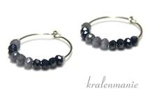 Inspiration Ohrringe: silberne Ohrringe, Kristall-Perlen (Swarovski-Stil)