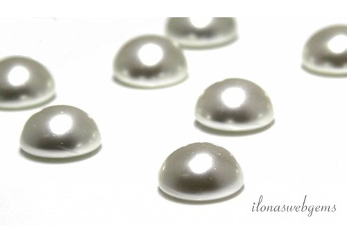 Glass pearl cabochon 12mm