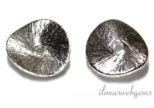 1 piece of silver plated chip 10mm