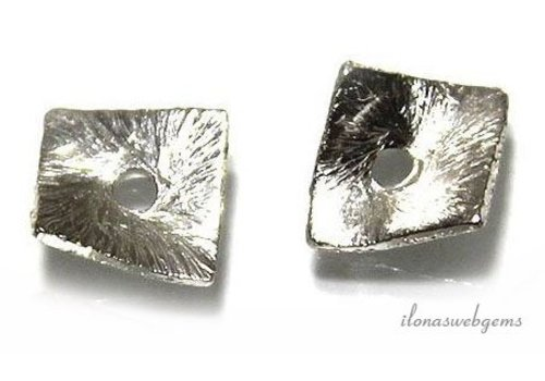 1 piece of silver-plated chip 6x6mm