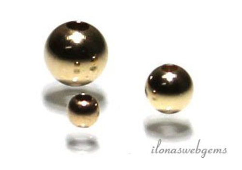 1 Stück 14k / 20 Goldfilled Distanz- / bead 2mm